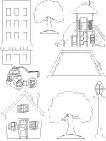 My Neighborhood Map Coloring Pages Coloring Pages