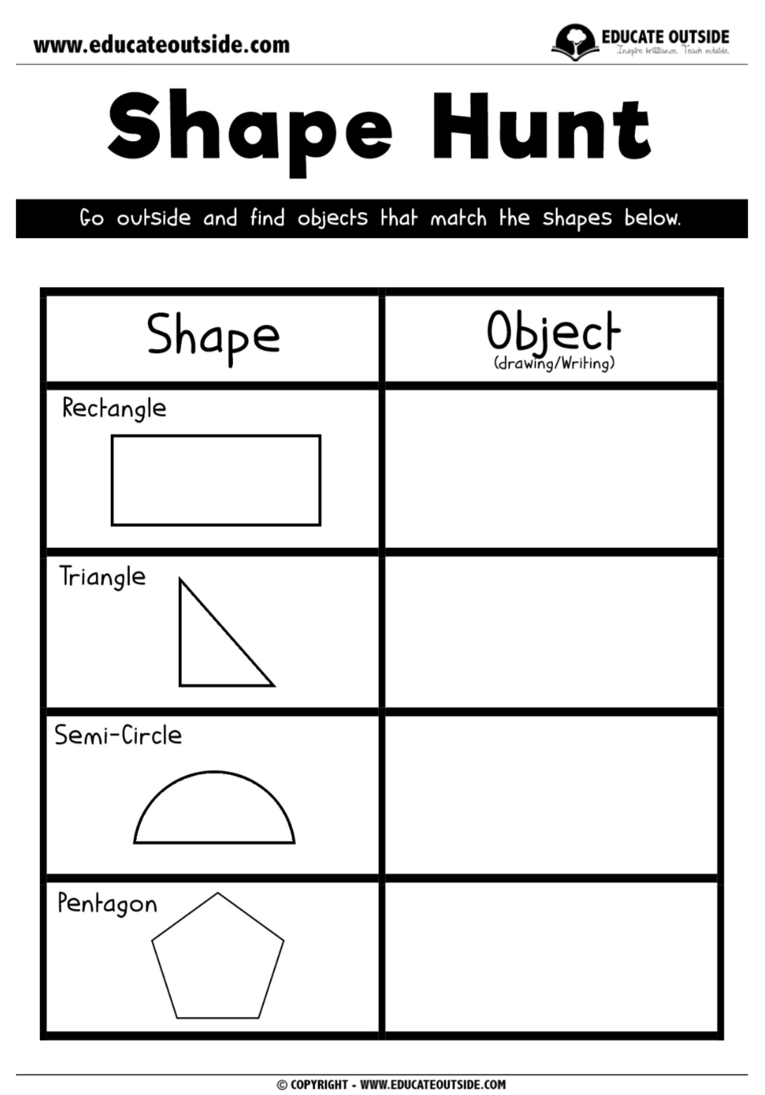 Shape Recognition Shape Hunt