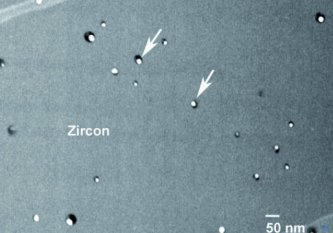 ziron with lead nanospheres
