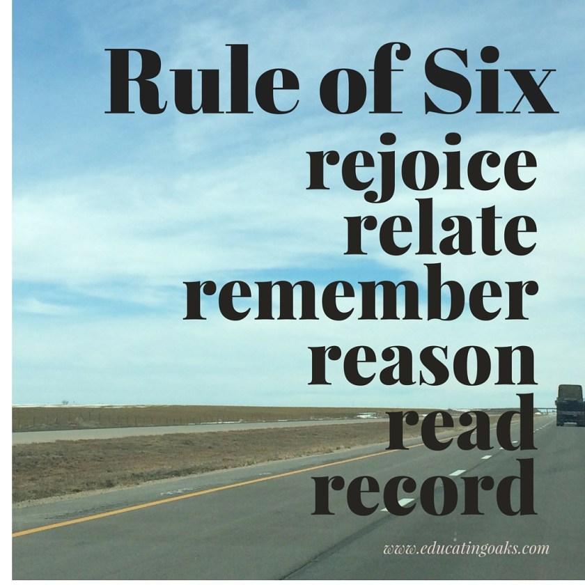 Rule of six instagram