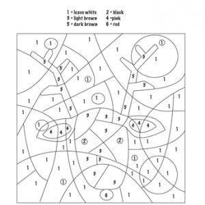 Christmas Color by Number Worksheets Educationcom