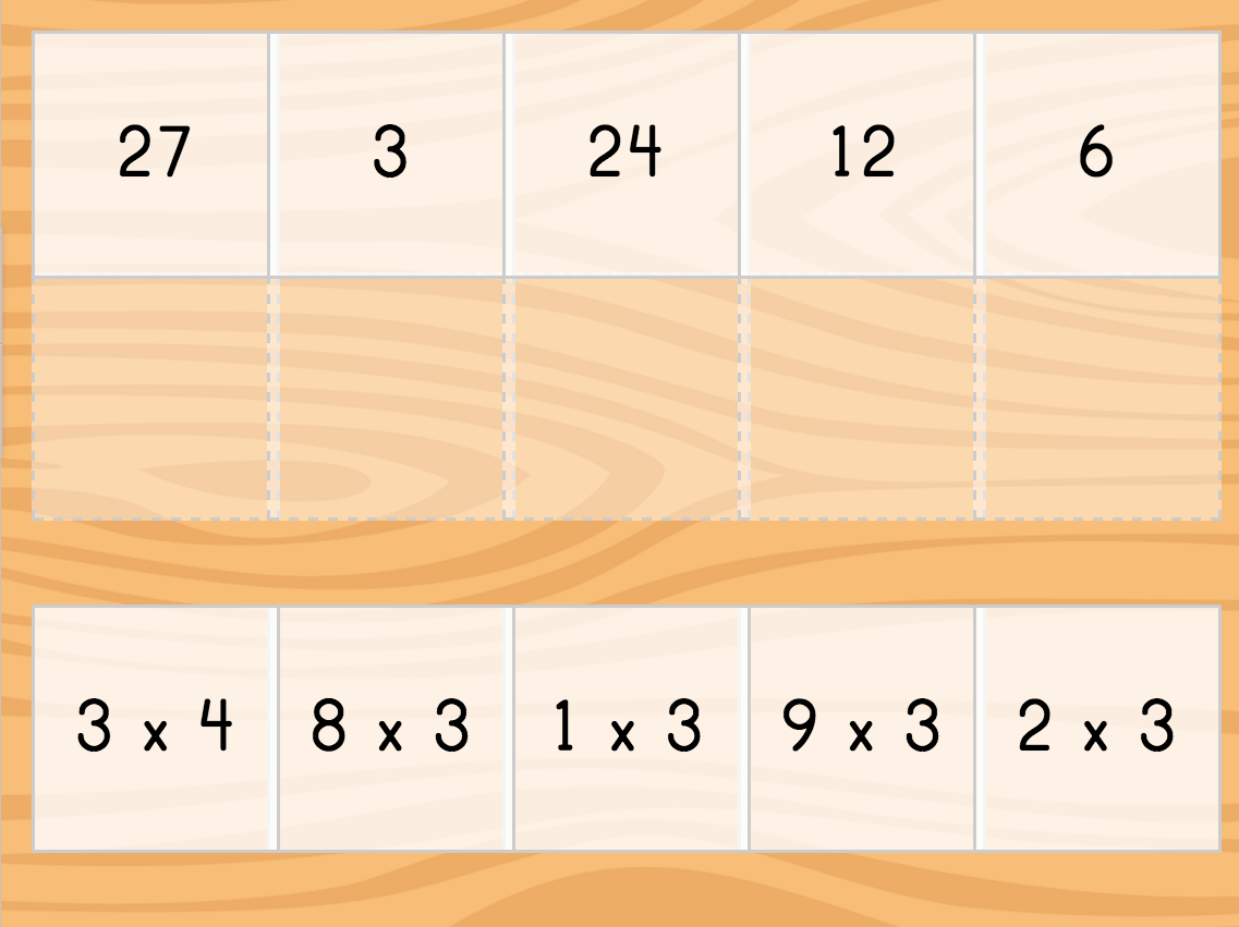 Multiply By 3 Game Matching