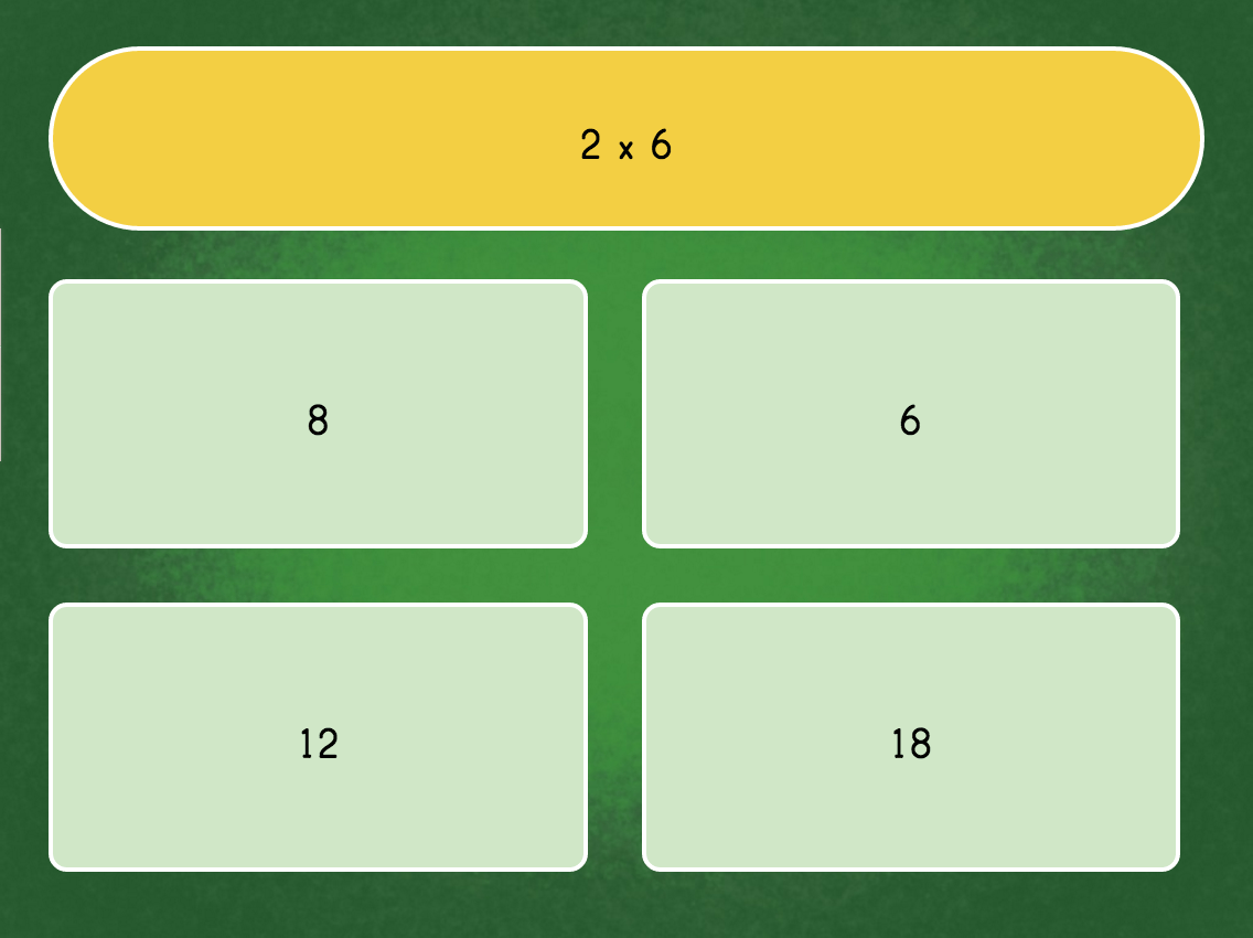 Multiply By 6 Game Quiz