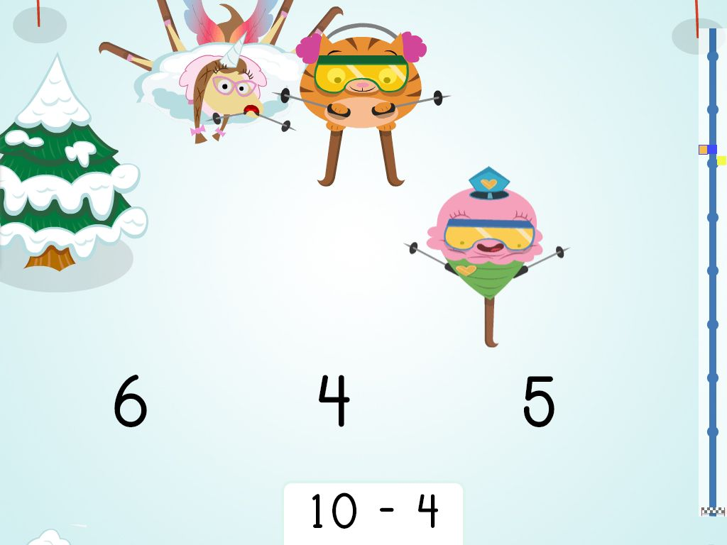 Subtraction Ski Race Within 10 Game
