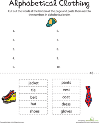 Alphabetize Words | Worksheet | Education.com