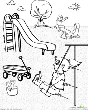 play ground Colouring Pages