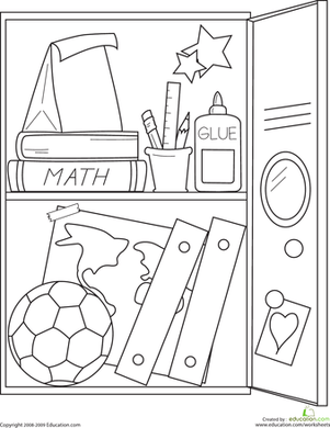 school articles Colouring Pages