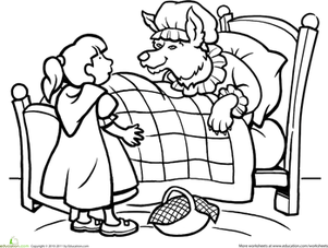 Red Riding Hood Grandma Coloring Pages Coloring Pages