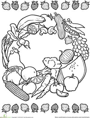 Nutrition Coloring Pages Printable Coloring Pages