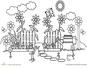 The Learning Patio Sketch Coloring Page