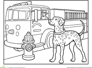 Firehouse Dalmatian Coloring Pages Coloring Pages