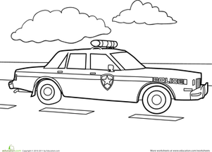 Childrens Preschool Police Officer Printables And