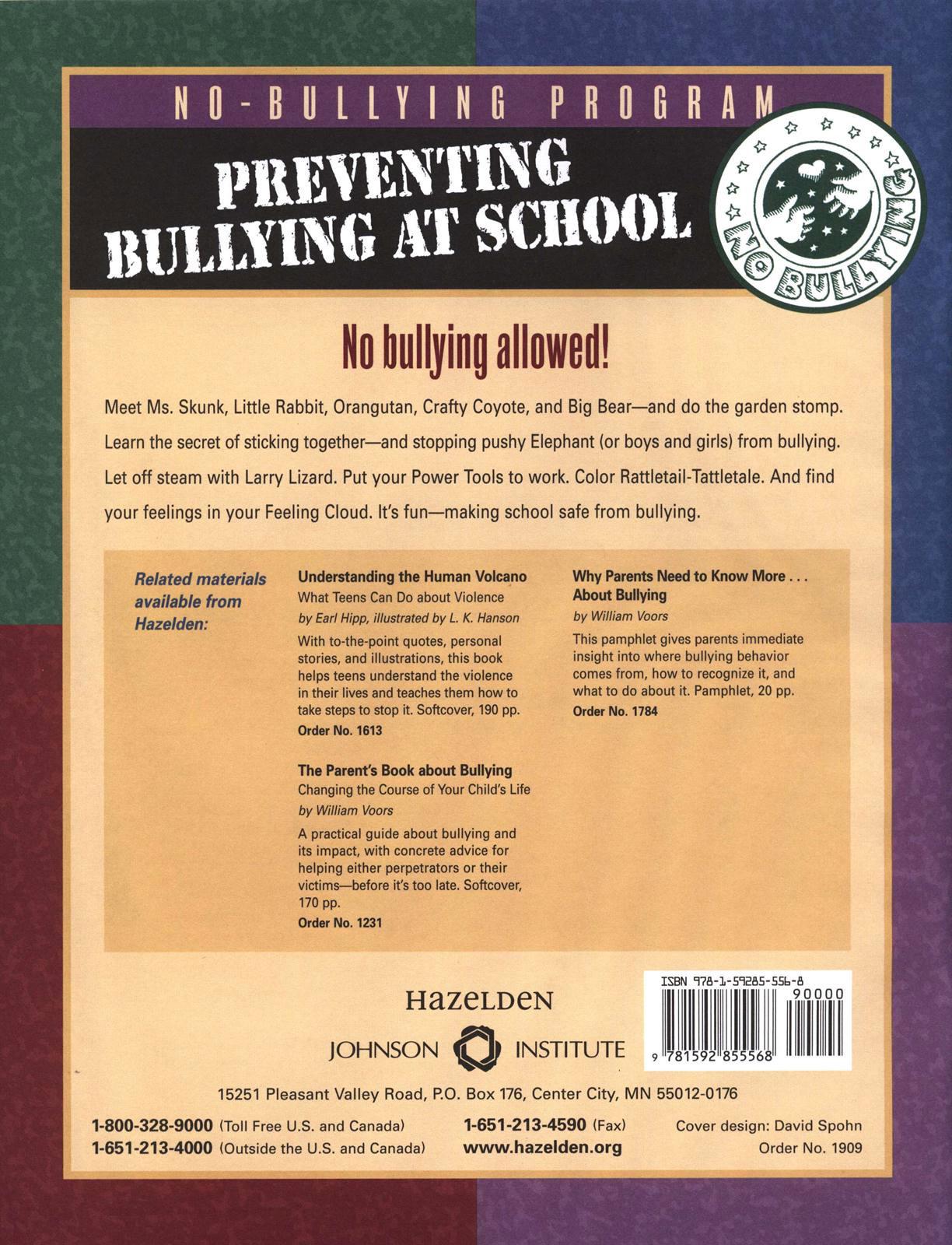 No Bullying Student S Workbook Kindergarten And Grade 1