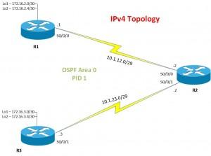 IPv6 Topology - IPv4 addressing