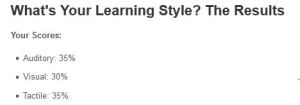 learning style result