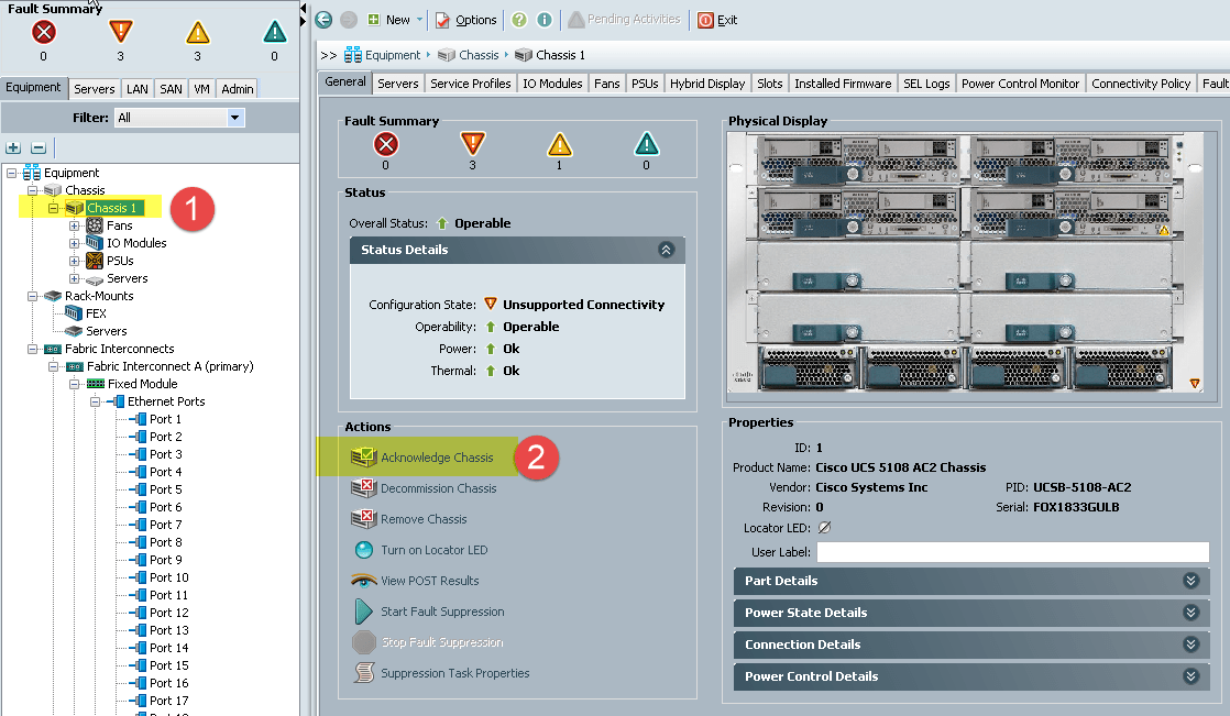 Deploy a Cisco UCS system - Part 1 - from scratch for VMware