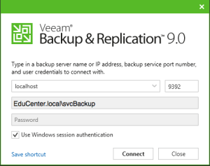 30 - New Veeam Backup and Replication Client login