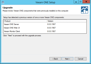 38 - Veeam ONE current version confirmation