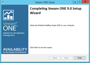 44 - Veeam ONE v9 successful upgrade installation