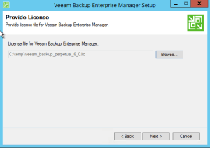 7 - Veeam choose licence key