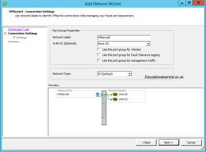 Setting up VMKernel for iSCSI Traffic