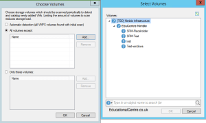 Adding Nimble Storage to Veeam - New Nimble Storage - Choose Volumes to be accessed