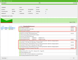 Veeam and Nimble Storage Integration - Backup from Snapshot - Job Session