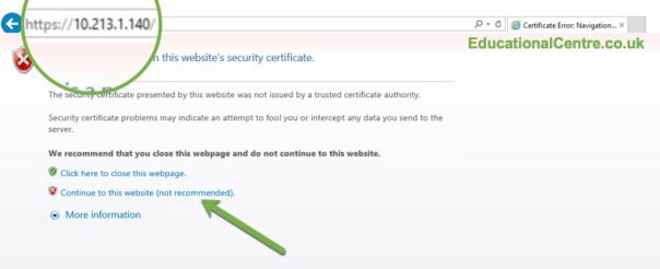 Nimble SFA setup Browser reload connect to management ip bypass ssl cert error