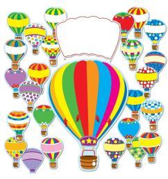 hot air balloons bulletin board set [ 875 x 1000 Pixel ]