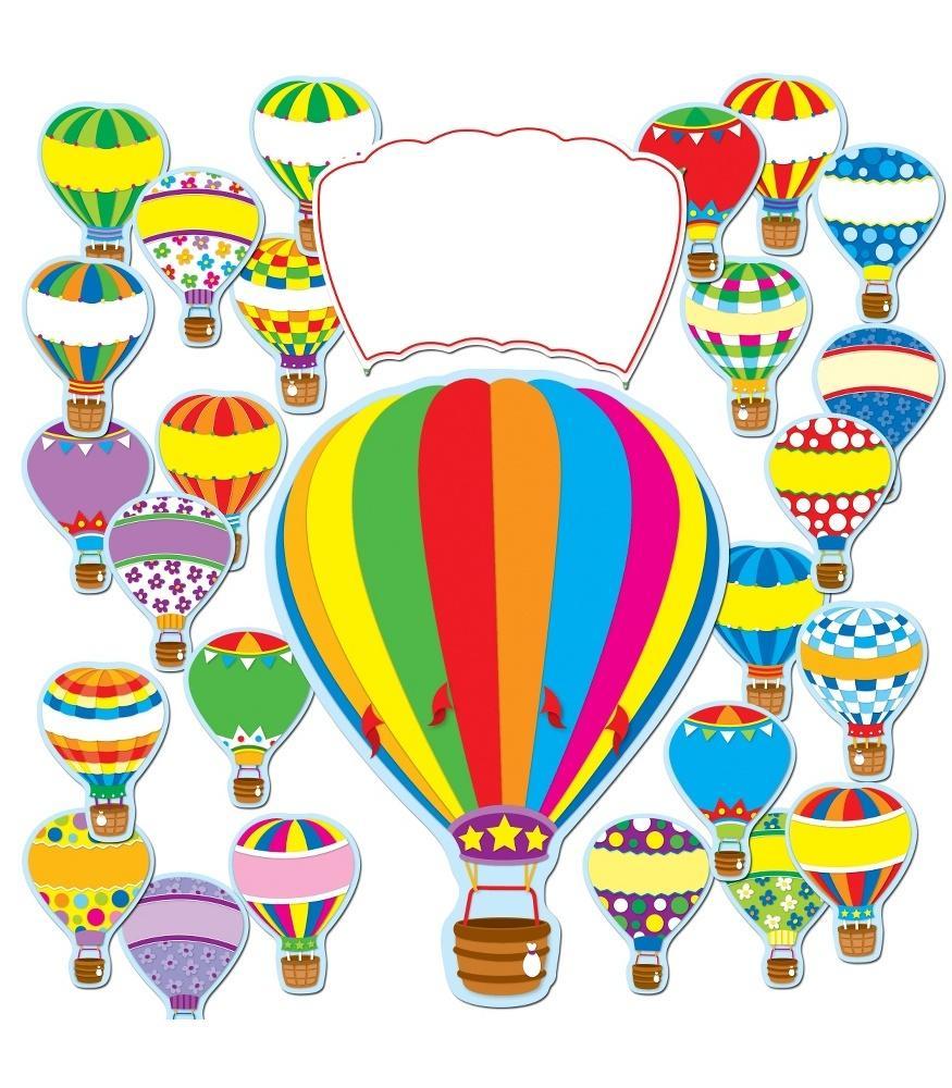 hight resolution of hot air balloons bulletin board set