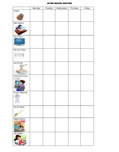 Routine visual schedule also how to use schedules improve children   behavior rh educationandbehavior