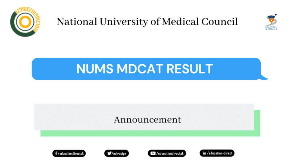 NUMS MDCAT Result 2020