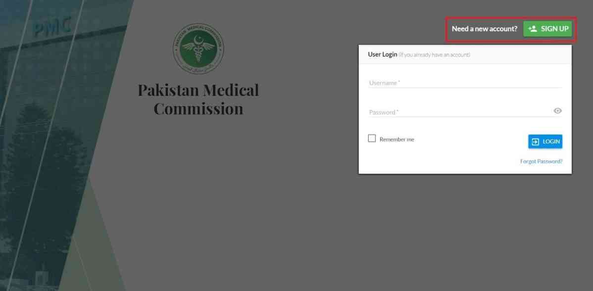 Sign up Button on Login Page 