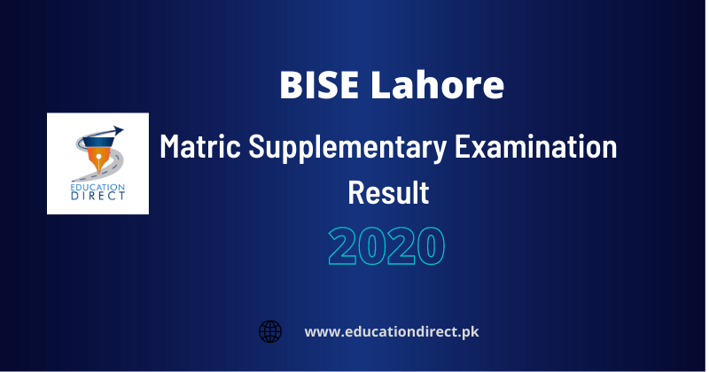Matric Supplementary Result