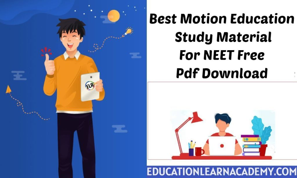 Best Motion Education Study Material For NEET 2022