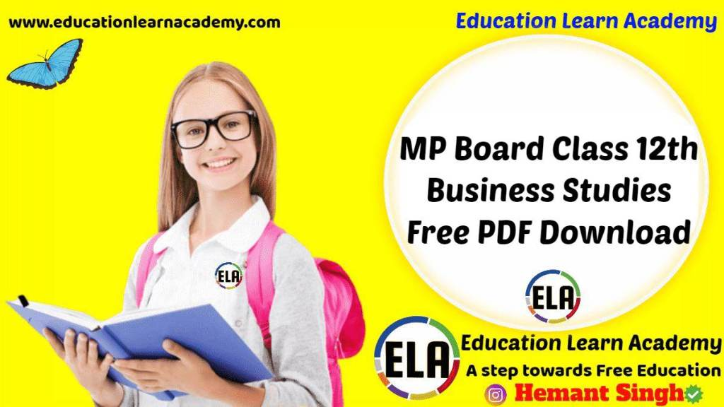 MP Board Class 12th Business Studies Free PDF Download
