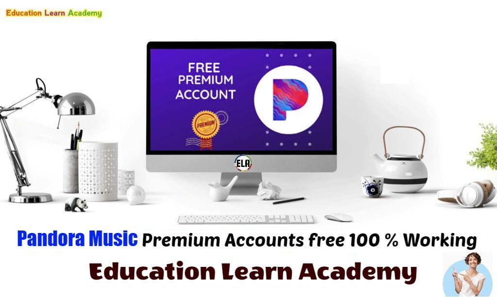 Pandora Music Premium Accounts Username and password