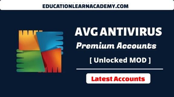 avg Antivirus pro Premium Accounts Username and Passwords 2021 [100% Working]educationlearnacademy