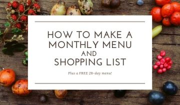 How to write up a monthly menu and shopping list