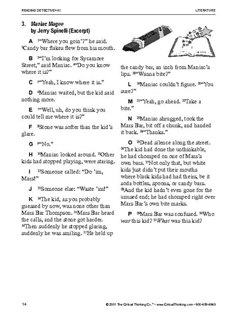 Critical Reading Skills Worksheets