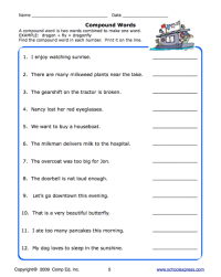 School Express Compound Word Worksheet | Education World