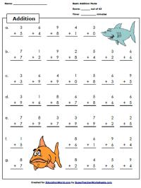 Super Teacher Addition Worksheet | Education World