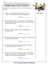 Super Teachers Multiplication Worksheet | Education World
