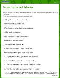 Noun Adjective Worksheet - Boxfirepress