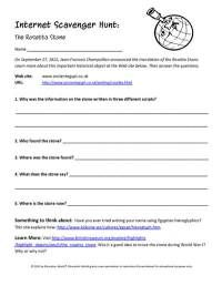Internet Scavenger Hunt Worksheet. Worksheets