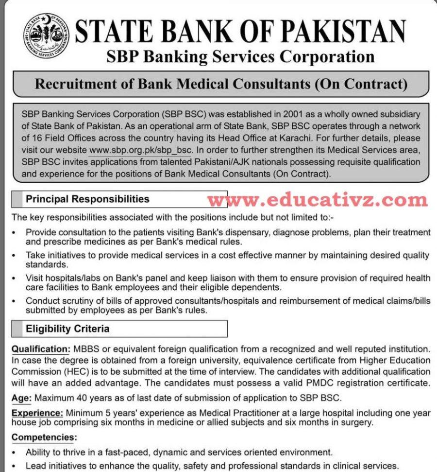State Bank of Pakistan Jobs 2019 SBP