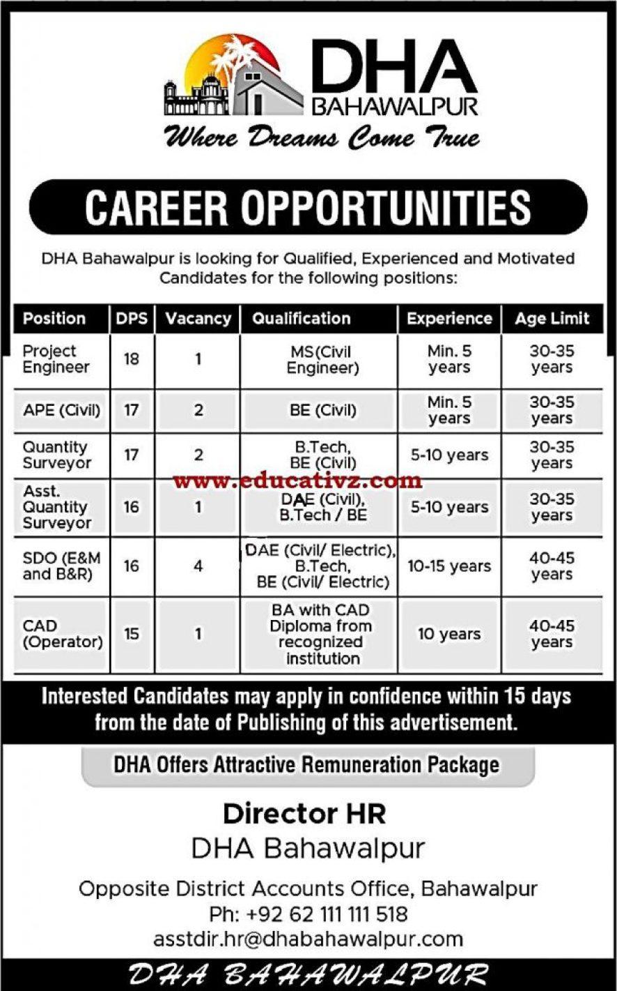 DHA Jobs 2019