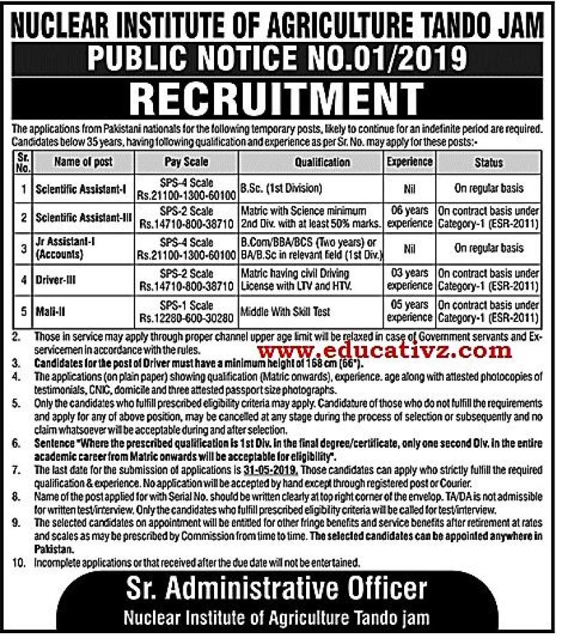 Sindh Jobs 2019
