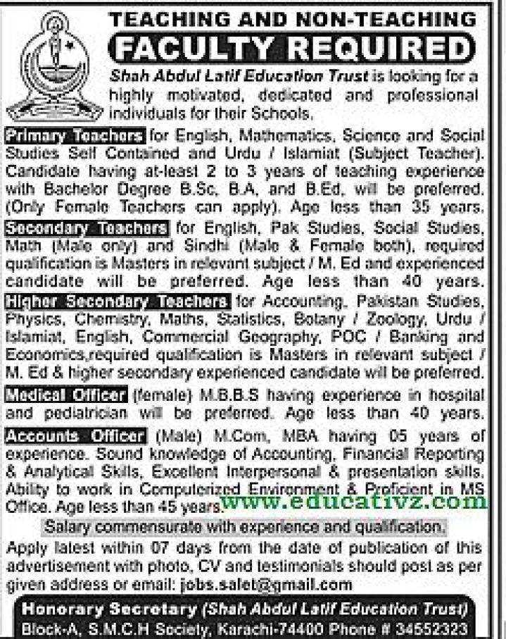 Education Trust Karachi Jobs