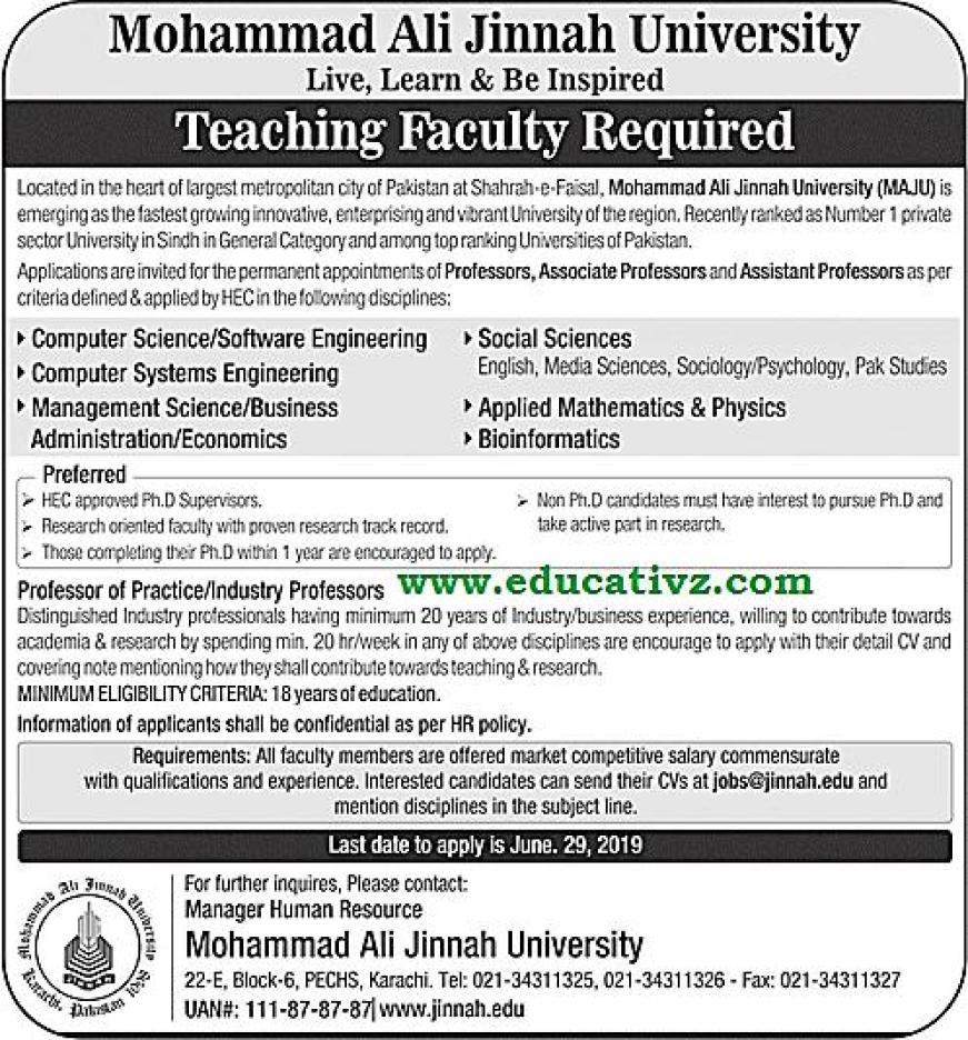 University Jobs 2019